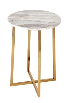 Brass and marble — our favorite combo, for under $100!Threshold Marble Top Accent Table, $89.99, available at Target.  #refinery29 http://www.refinery29.com/2016/09/121503/new-target-fall-home-collection#slide-12