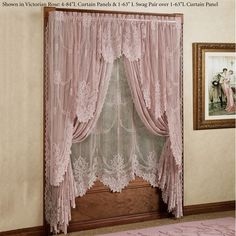 As delicate and fresh-looking as the flowers it depicts, the Garland Lace Window Treatment turns any window into a delightful part of your room's atmosphere. Shabby Chic Bedrooms, Window Treatments, Decor, Curtain Decor, Curtain Designs, Lace Window, Home Decor, Lace Window Treatments, White Wicker Furniture