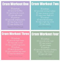 Just finished Cram workout one :)