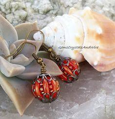 Beaded Pumpkins for Her Cute Pumpkin by GemsCrystalsAndWire