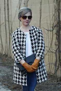 The Houndstooth coat, handmade wardrobe, free coat pattern