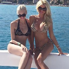 "Victoria Silvstedt Official on Instagram: ""Happy Friday!! Great swim with my beauty @amandacarolinecronin #thelittleone#southoffrance"""
