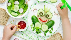 Photo about Fun and healthy food for kids vegetable bread sandwich shaped frog top view. Image of green, bread, food - 98162612 Healthy Meals For Kids, Kids Meals, Vegetable Bread, New Recipes, Healthy Recipes, Health Coach, Avocado Toast, Watermelon, Sandwiches