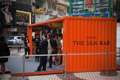 Hermes opened a pop-up Silk bar in Hong Kong to promote the fall and winter collection