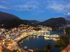 Night time in Parga #nighttime #harbourtown #parga #visitgreece #wanderlust #vscocam #vscotravel #travelgram #citylights