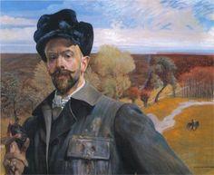 Self-portrait with Pisanka by Jacek Malczewski (1854-1929)