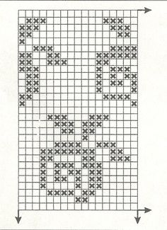 "Фотки Isle Strickmuster Diagramme Kreuzstich Photo from album ""sept 3 on Yandex. Crochet Chart, Filet Crochet, Crochet Motif, Embroidery Patterns, Cross Stitch Patterns, Knitting Patterns, Crochet Patterns, Knitting Charts, Knitting Stitches"
