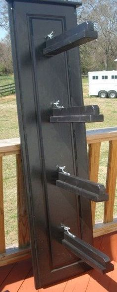 Saddle rack with four slots the wellington by theequestrianshop 309 Horse Tack Rooms, Horse Stables, Horse Barns, Horse Horse, Tack Room Organization, Organization Ideas, Storage Ideas, Tack Locker, Horse Gear