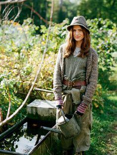 Whitehartland the good life garden styles, earthy style и co Farm Fashion, Country Fashion, Look Fashion, Fashion Ideas, Autumn Fashion, Country Life, Country Girls, Country Living, Country Style