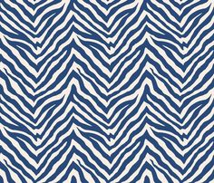 Zebra in Navy fabric by sparrowsong on Spoonflower - custom fabric