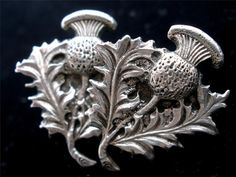 Vintage Sterling Silver Thistle Earrings by TheJewelryLadysStore, $33.00