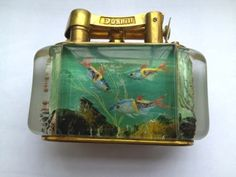 Standard Dunhill Aquarium table lighter c.a 1950 desighned by Ben Shillinford