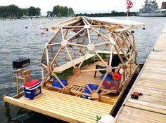 geodesic houseboat - way to go Michael Weekes.  affordable, green and it floats.