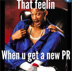 """That feelin when you get a new PR."" Hahaha #FreshPrince"