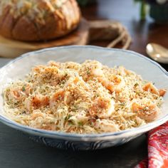 Shrimp Scampi and Pasta with Herb Breadcrumbs By Valerie Bertinelli
