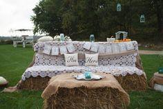 Hay Bales At Wedding