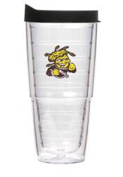 Wichita State Shockers 24oz Clear Tumbler