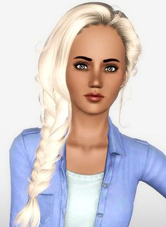 Newsea`s Erena hairstyle retextured by Forever and Always for Sims 3 - Sims Hairs - http://simshairs.com/newseas-erena-hairstyle-retextured-by-forever-and-always/