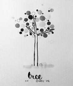 Tree - by Camille Medina, #inktober, #inktober2016