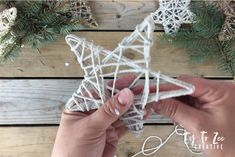 These string star ornaments are a simple DIY project for your Christmas ornaments. Easy Christmas Decorations, Christmas Crafts To Make, Diy Christmas Ornaments, Homemade Christmas, Rustic Christmas, Christmas Projects, Christmas Fun, Holiday Crafts, Star Ornament