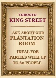 Check out our Plantation Room for your large party Toronto Location, Ottawa Ontario, Bourbon Street, Big Daddy, Pork Ribs, Served Up, Oysters, How To Introduce Yourself, Check