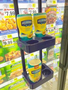 A custom-designed Cooler Door Rack puts Hellman's Tartar Sauce right where it should be, in front of frozen fish offerings. Now you have no reason not to grab a bottle and make your mealzesty. I t...