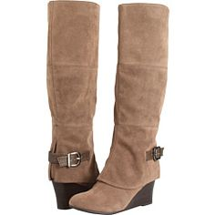 I see these with skinny jeans in my future.  $62.97 from 6pm.com Brand: Fergalicious #boots #knee #carmel