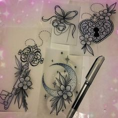 WEBSTA @ sophieadamson_tattoo - Some little available designs  Colour or black