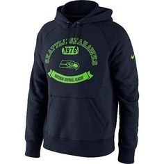 Nike Seattle Seahawks Property Of Pullover Hoodie - College Navy
