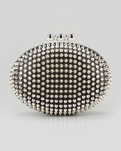 spiked clutch from Christian Louboutin - pinned by RokStarroad.com ~ unleash your inner RokStar - fashion, pop and mental health