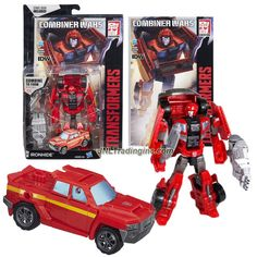 Hasbro Year 2015 Transformers Generations Combiner Wars Series 5-1/2 Inch Tall Robot Figure - Autobot IRONHIDE with Battle Axe, Optimus Maximus' Left Foot and Comic Book (Vehicle Mode: Pick-Up Truck)
