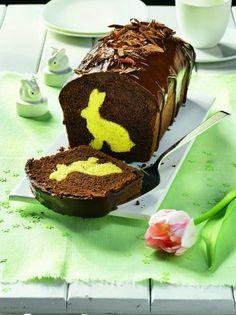 Osterhasenkuchen mit Kakaoglasur - Bild 1