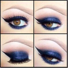 How to Look hot uploaded by on We Heart It Purple Eyeshadow Looks, Blue Makeup Looks, Beauty Courses, Makeup Tips For Brown Eyes, Eye Makeup Designs, Beauty Tutorials, Beauty Tips, Creative Makeup, Eye Make Up