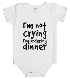 Funny Baby onsie that would be so simple to make with a little vinyl!