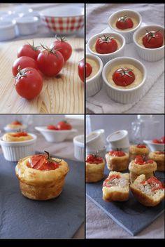 En entrée ou en apéritif ces petits cakes sont vraiment délicieux ! Pour 6 petits cakes : 100g de farine 1 cac rase de levure chimique ...