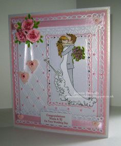 """Wedding Day Card - Another outing for #stamping bella's """"Uptown COUPLE Brett and…"""