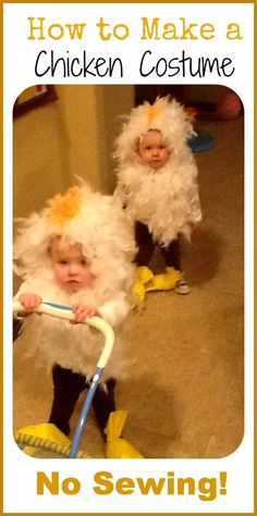 How to make a chicken costume - no sewing needed!