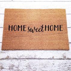 Home Sweet Home Welcome Mat / Doormat, Door Mat, Gift  // WM03A