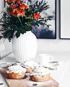 Happy Shrove Tuesday! Our store had run out of these traditional buns, so I made some myself! In… | semla pastry buns