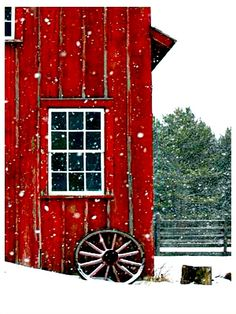 House Barn Winter Scenes 57 Ideas For 2019 Bob Ross, Barn Photography, Barn Pictures, Barn Art, Country Barns, Christmas Scenes, Red Barns, Christmas Paintings, Barn Quilts