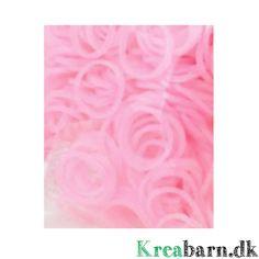 Loom Elastikker i 3 forskellige farver, der dufter af jordbær; 300 elastikker i en pose til 35 kr.  – Kreabarn.dk Danmarks største udvalg af tilbehør og elastikker til loom, fun loom og rainbow loom.