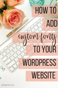 Here's a tutorial to show you how to add custom fonts to your WordPress webs Wordpress For Beginners, Learn Wordpress, Site Wordpress, Wordpress Website Design, Wordpress Plugins, Blogging For Beginners, Wordpress Admin, Admin Login, Build Your Own Website