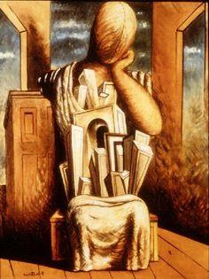"""The Philosopher"", ""El filósofo"" (1926) de Giorgio Chirico.    http://www.anselmphilosophy.com/mod/slideshow/view.php?id=127_num=59"
