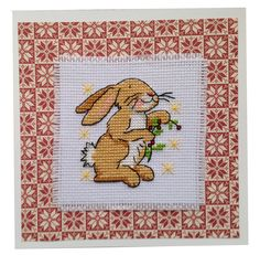Rabbit on Red background