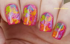 Colorful #Marble #Nailart Inspired By #Holifestival
