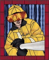 Fire Fighter 2.Colored Rendition