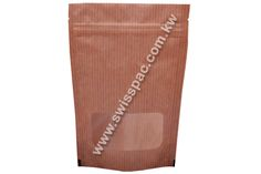 Paper bags and high resistance zippered window