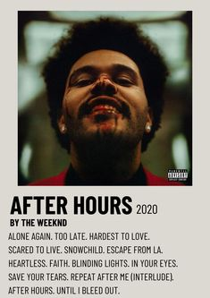 The Weeknd After Hours 2020 Alternative Minimalist Polaroid Poster The Weeknd Album Cover, The Weeknd Albums, Cool Album Covers, Music Album Covers, The Weeknd Poster, Poster Wall, Poster Prints, Minimalist Music, Iconic Movie Posters