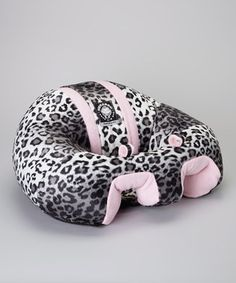Love this Snow Leopard & Pink Support Seat by Hugaboo on #zulily! #zulilyfinds