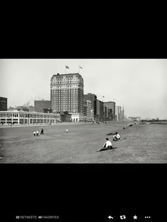 Chicago Michigan Ave and Grant Park a century ago